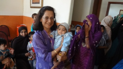Bonding with the community at a Health camp in Karachi